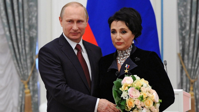 Ирина Винер-Усманова с Владимиром Путиным