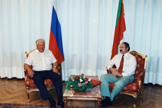 Лукашенко с Ельциным