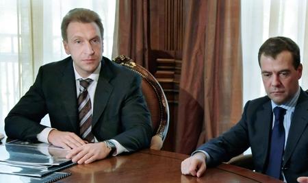 Шувалов и Медведев