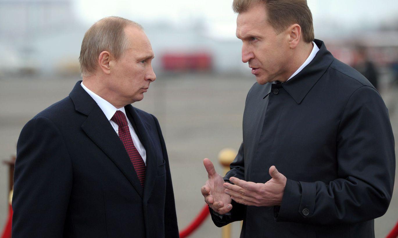Шувалов и Владимир Путин
