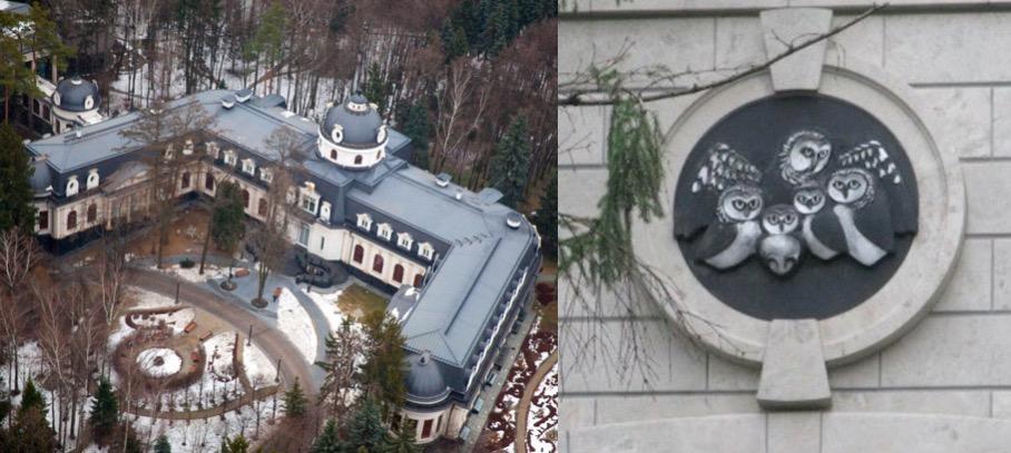 Дача Шувалова в Заречье и семейный герб, изображенный на воротах