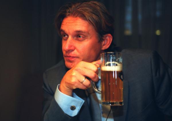 Тиньков за кружкой пива