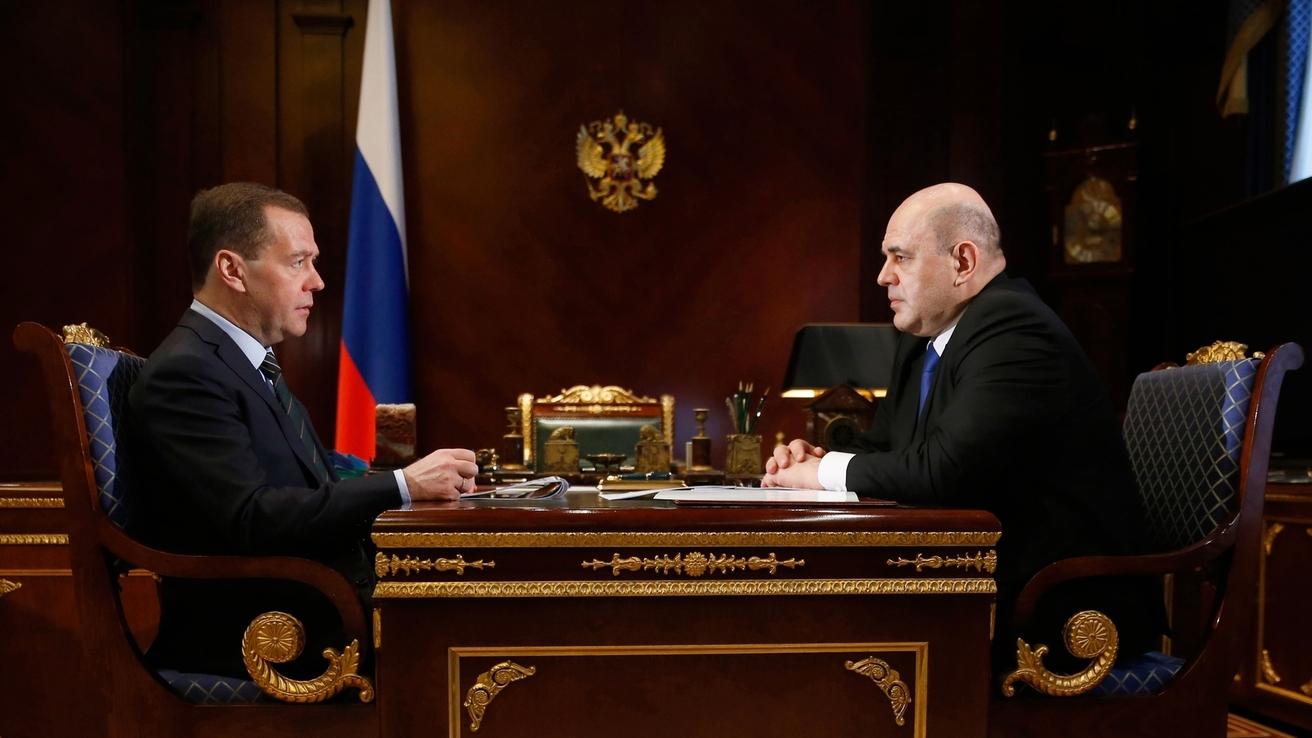 Встреча Дмитрия Медведева с Мишустиным Михаилом