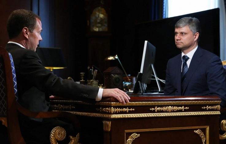 Олег Белозеров на приеме у Дмитрия Медведева
