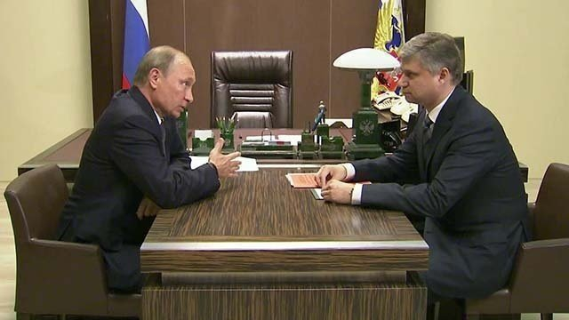 Олег Белозеров и Владимир Путин