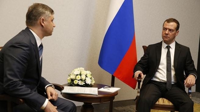 Якунин на приеме у Дмитрия Медведева