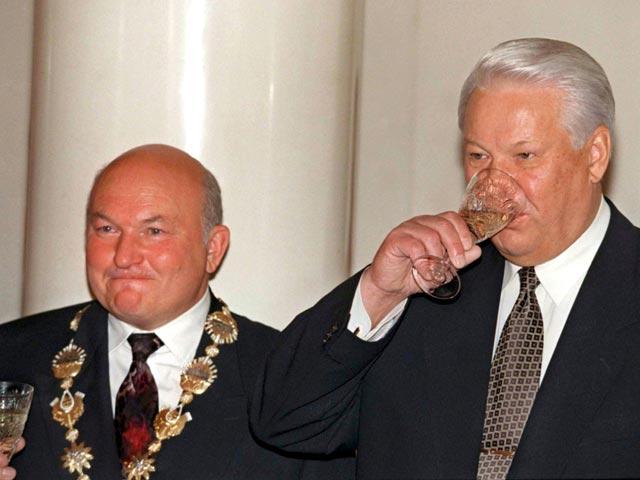 Лужков С Борисом Ельциным