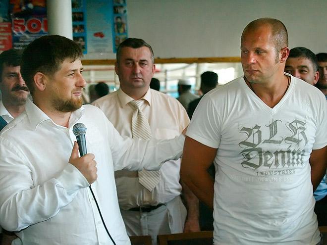 Кадыров и Федор Емельянеко