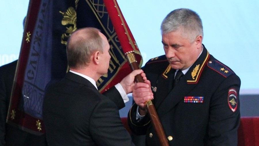 Путин В.В. и Колокольцев В.А.