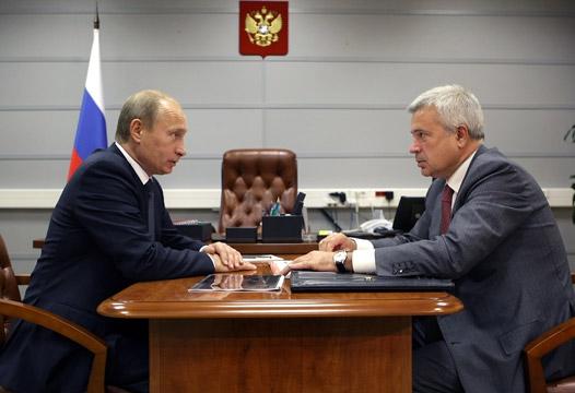 В.В.Путин провел рабочую встречу с президентом ОАО «Лукойл» В.Ю.Алекперовым