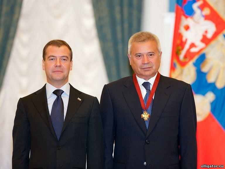 Алекперов Вагит Юсуфович и Дмитрий Медведев