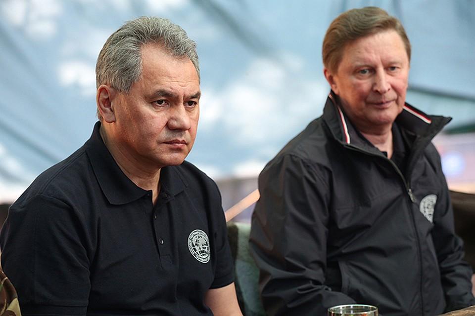 Сергей Иванов и Шойгу