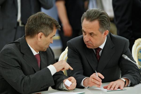 Рашид Нургалиев и Виталий Мутко