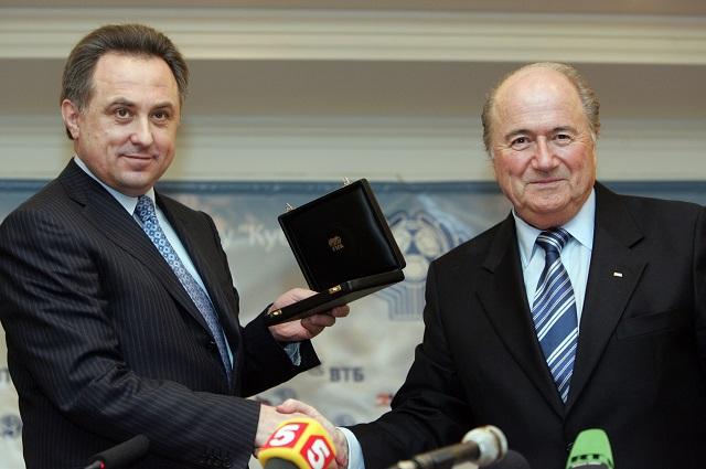 Йозеф Блаттер и министр спорта РФ Виталий Мутко
