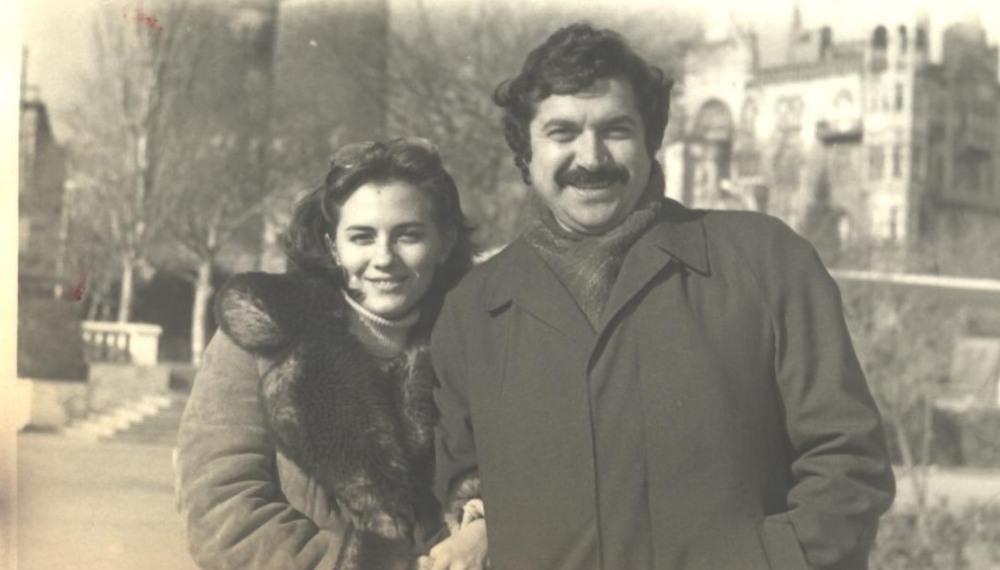 С супругой Валидой