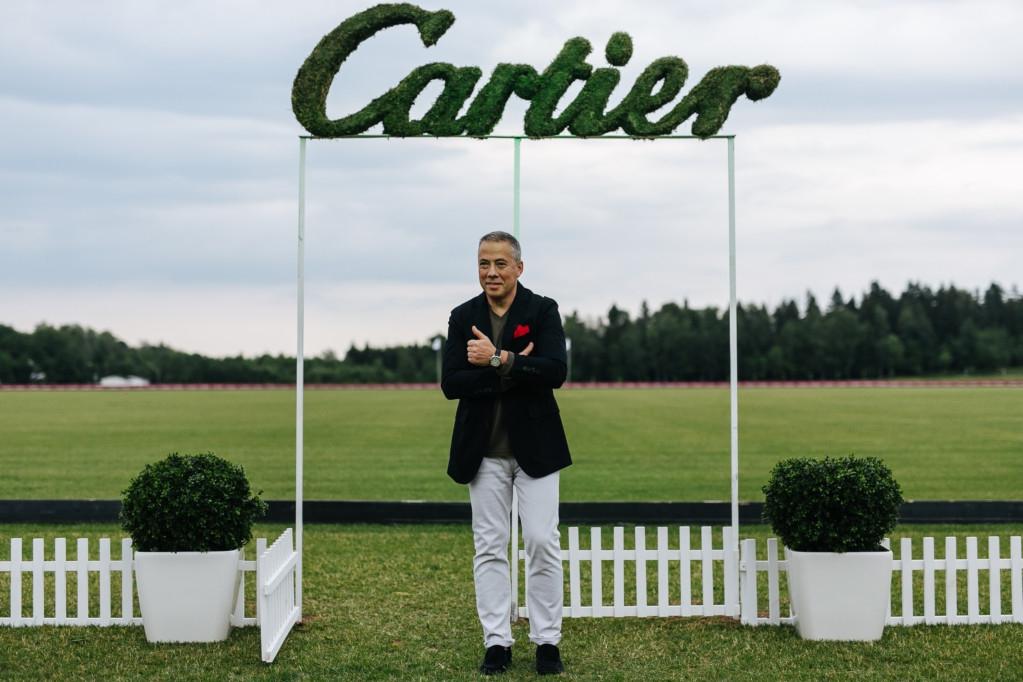 Аркадий Новиков на турнире Cartier по конному поло
