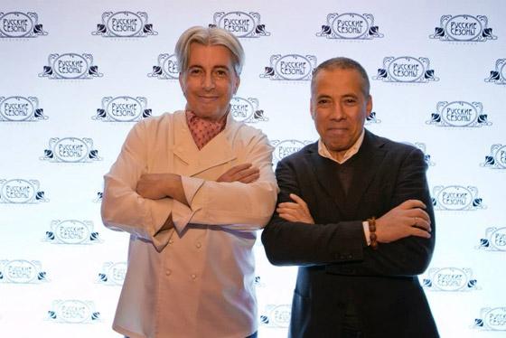 Шеф-повар Анатолий Комм и ресторатор Аркадий Новиков