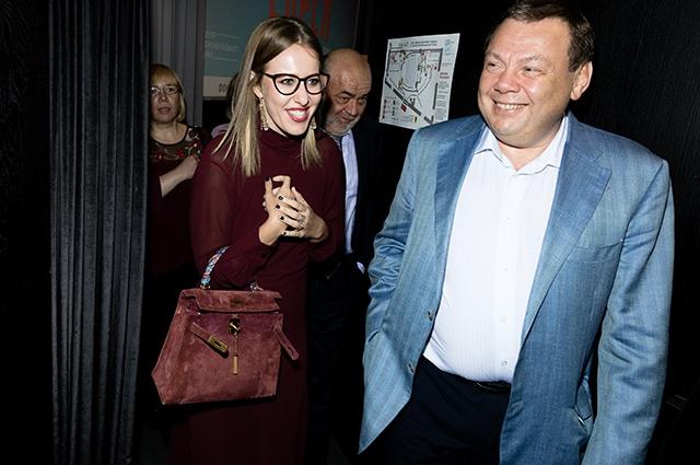 Ксения Собчак и Михаил Фридман