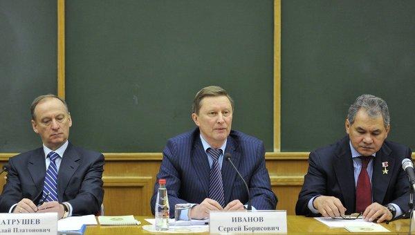Секретарь Совета безопасности РФ Николай Патрушев и Иванов