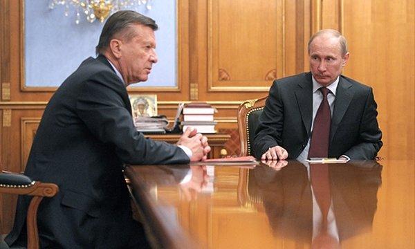 Виктор Зубков и Путин