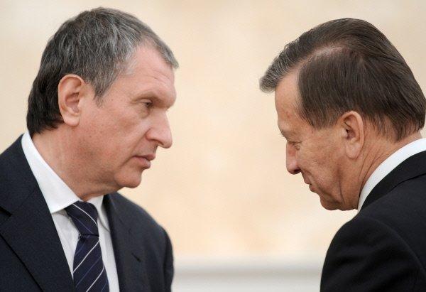Виктор Зубков и Игорь Сечин