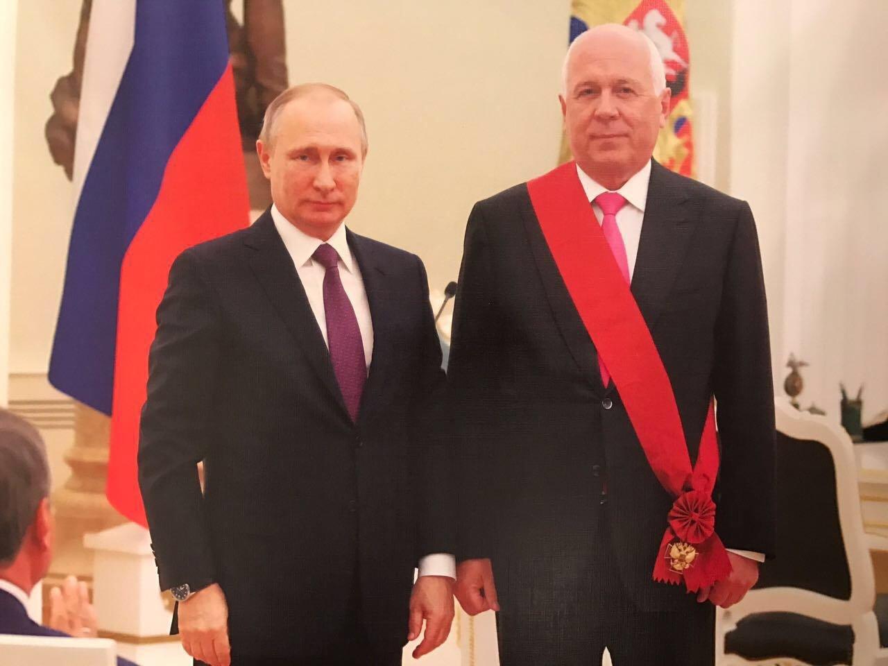 Сергей Чемезов и Путин