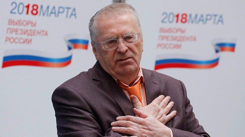 Кандидат на пост главы государства от ЛДПР Владимир Жириновский