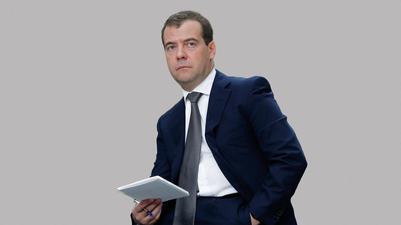Премьер министр России Дмитрий Медведев.