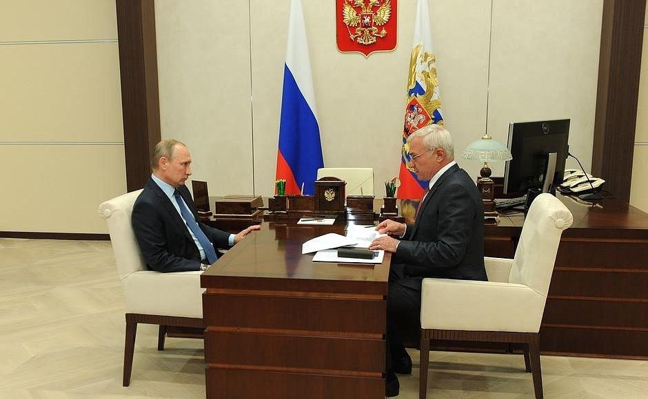 На приеме у Путина