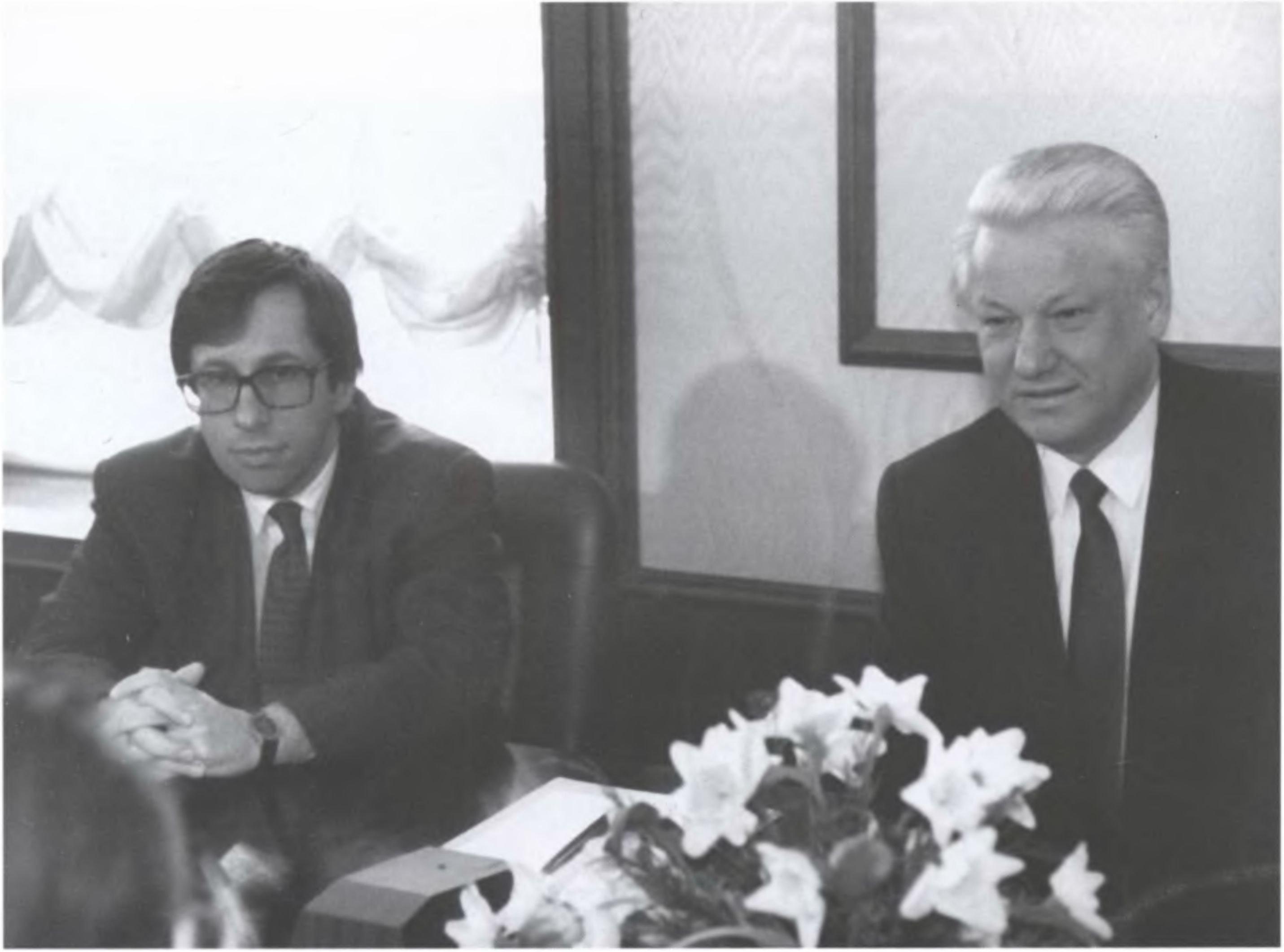 Петр Авен и Борис Ельцин