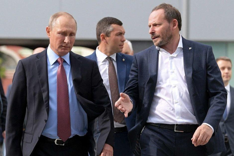 Аркадий Волаж и Владимир Путин
