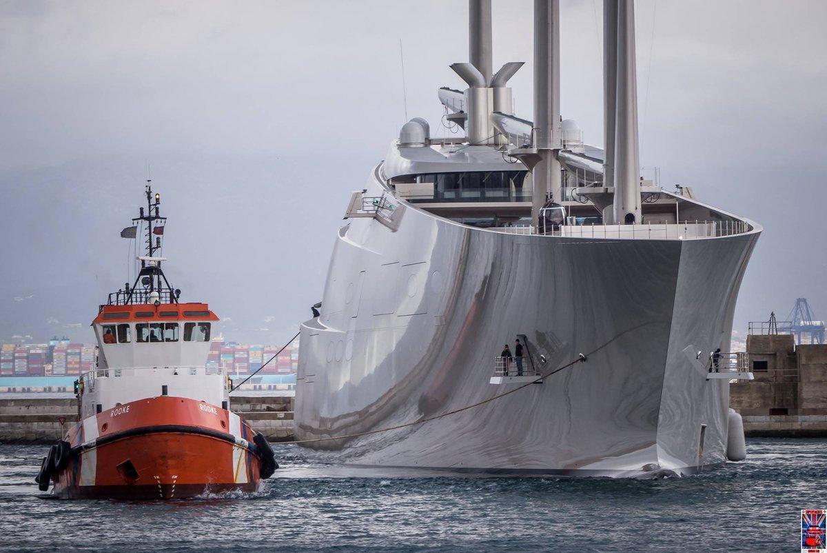 Крупнейшая в мире парусная яхта Sailing Yacht A, построенная по заказу российского миллиардера Андрея Мельниченко