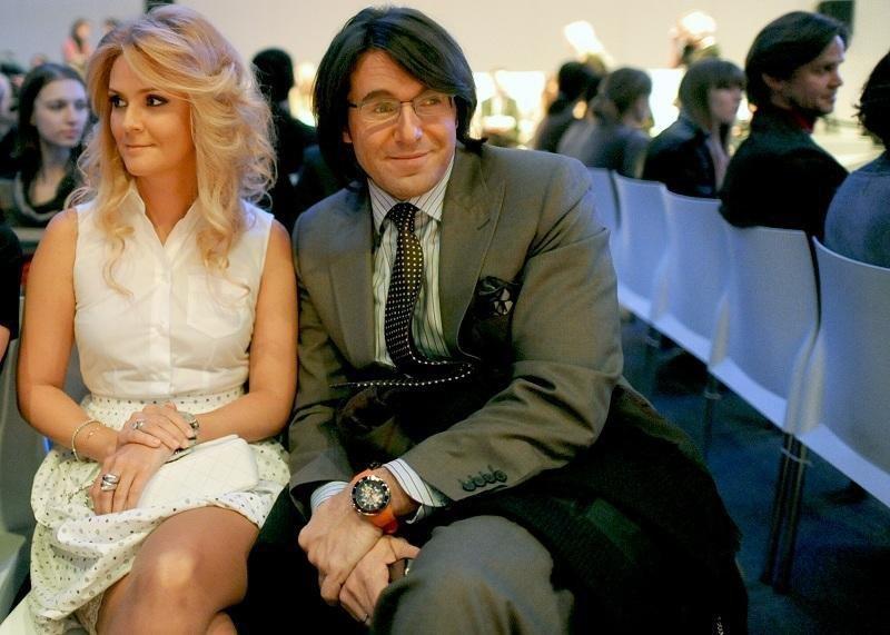 Телеведущий Андрей Малахов с супругой, издателем журнала Elle Натальей Шкулевой.