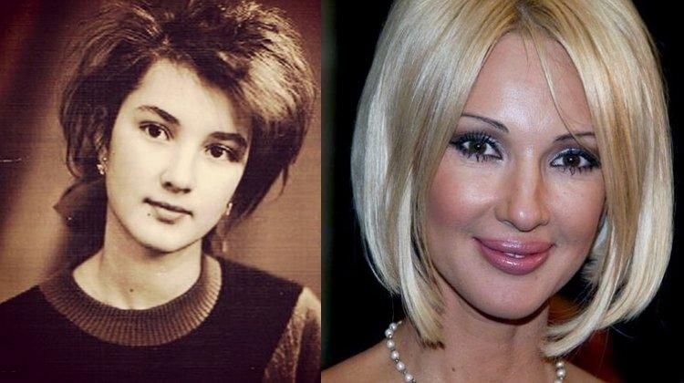 Лера Кудрявцева в молодости и сейчас
