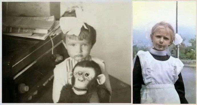Эвелина Бледанс в детстве