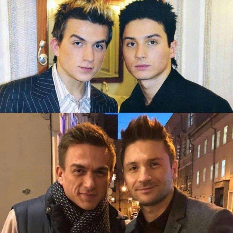 Топалев Влад и Сергей Лазарев в юности и сейчас