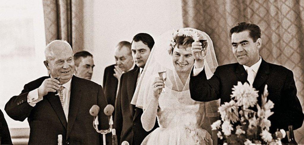 Хрущёв Н.С., Терешкова и Николаев - свадьба