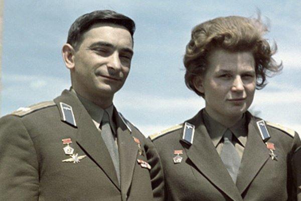 Валентина Терешкова и Валерий Быковский