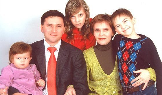Кобылкин Дмитрий Николаевич с семьей