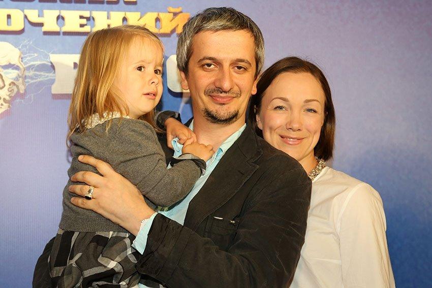 Дарья Мороз и Константин Богомолов дочерью Анной