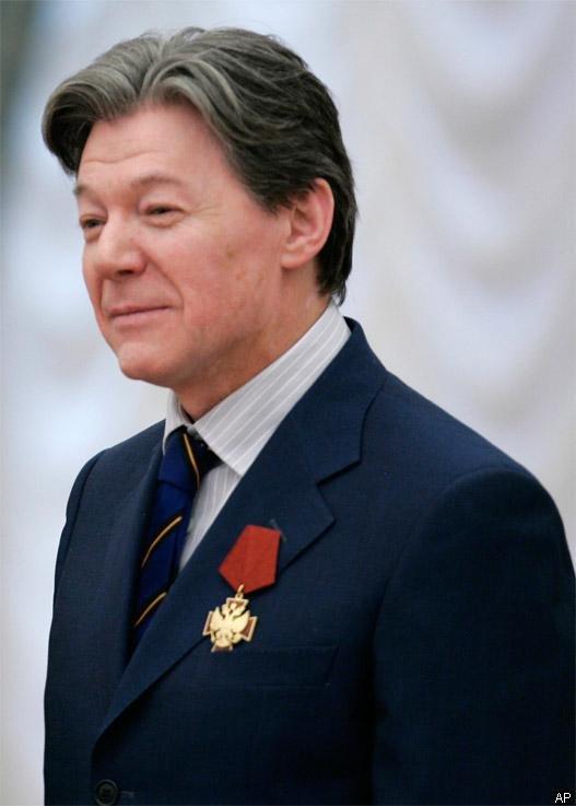 Виктор Алексеевич Збруев при  нагрождении орден «За заслуги перед Отечеством»