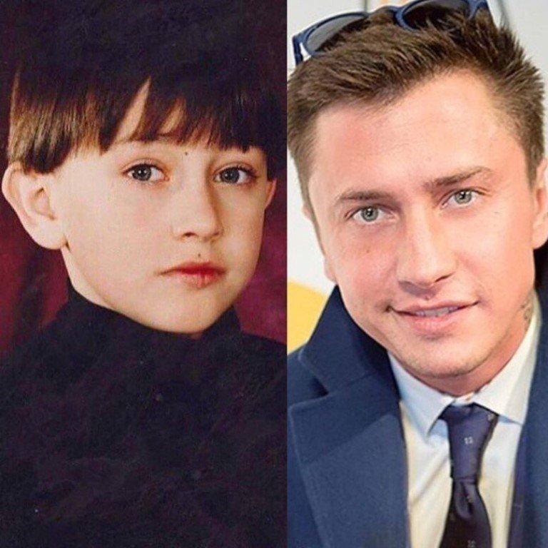 Прилучный Павел в детстве и сейчас