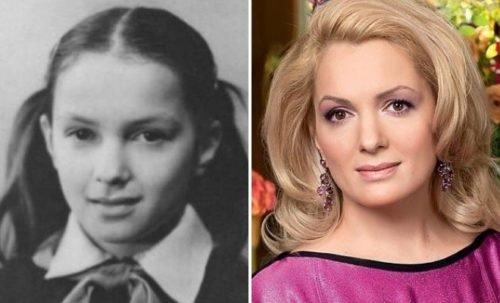 Мария Порошина в школьные годы и сейчас