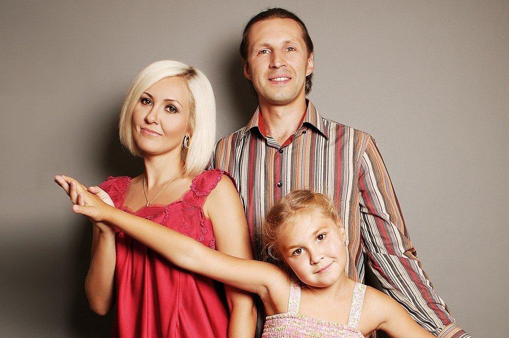 Василиса Володина  с семьёй