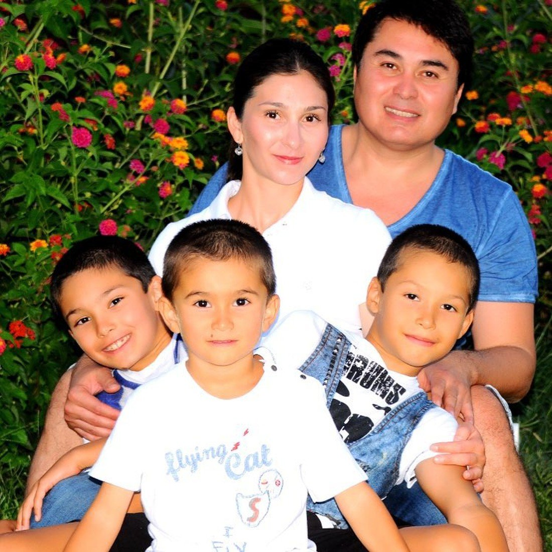 Арман Давлетьяров с семьей