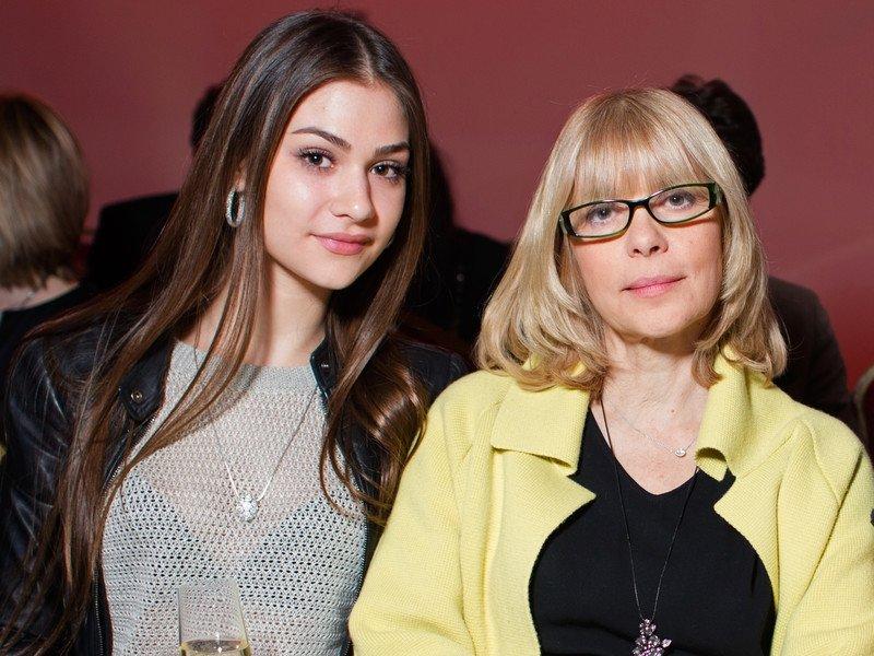 Анастасия Шубская с матерью Верой Глаголевой