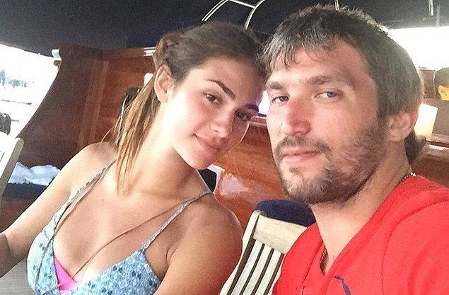 Наствсья Шубская с мужем Александром Овечкиным
