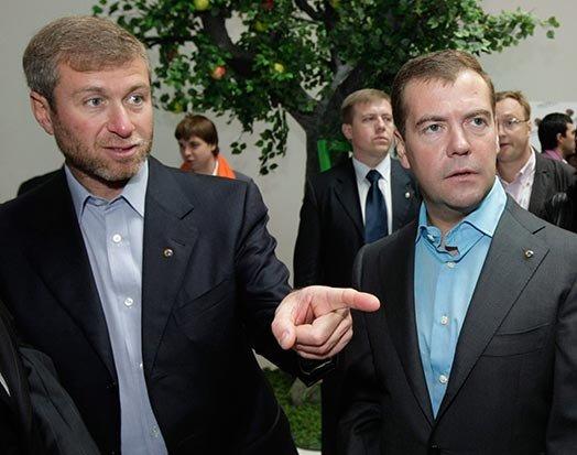 Абрамович с Медведевым