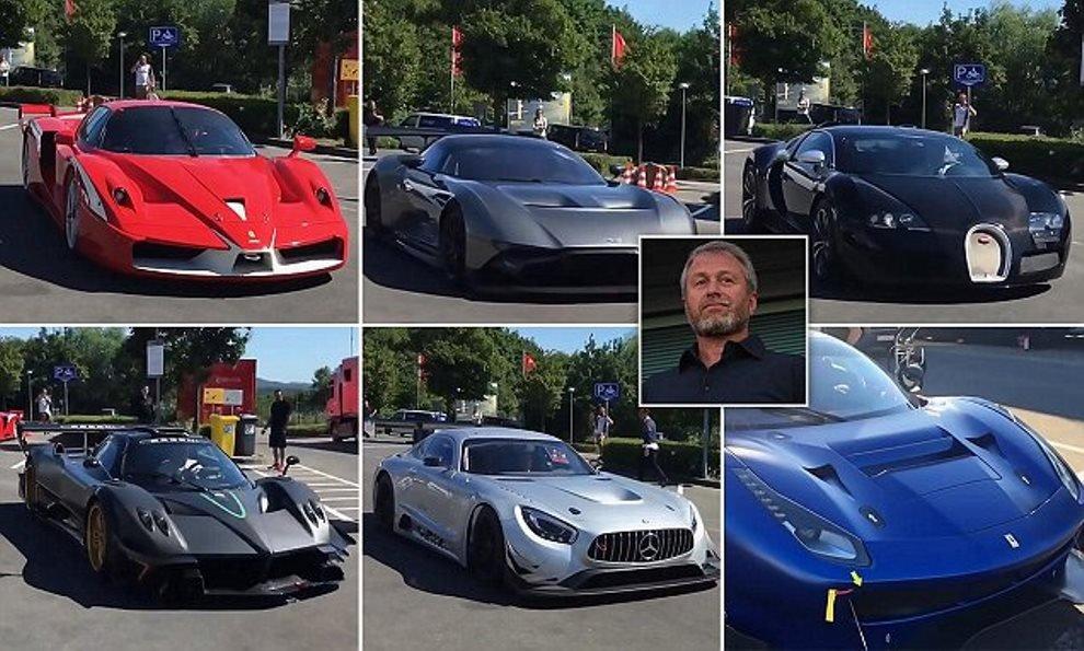 Абрамович впервые публично демонстрирует свои дорогие машины