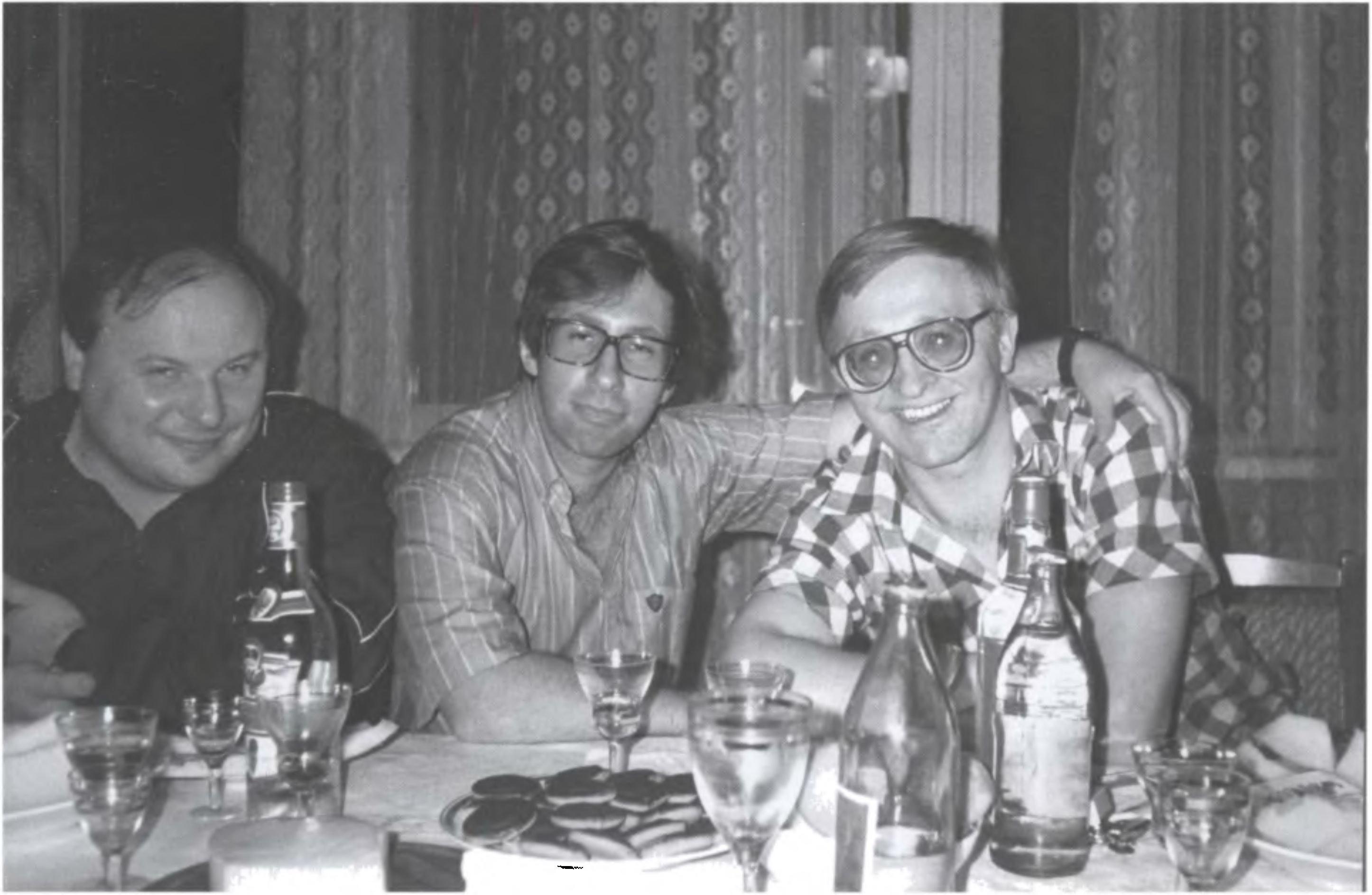 Егор Гайдар, Петр Авен, Александр Шохин на даче в Архангельском, 1992 г